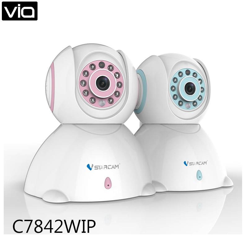Vstarcam C7842WIP Free Shipping  HD Wireless IP Camera 720P Night Vision Security Camera P2P H.264 Onvif Two Way Audio free shipping p2p 720p 1mp hd plug