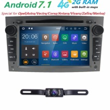 2GRAM HD1024*600 2DIN Quad Core Android7.1 Car DVD Player GPS Radio For Opel Astra H Vectra Corsa Zafira B C G car stereo 4GWIFI