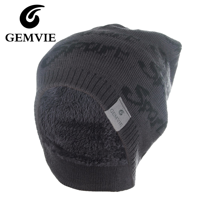 28b4afa1fd3a5 Thick Winter Hats For Women And Men Plus Velvet Skullies Beanies Casual  Letters Warm Knitted Caps