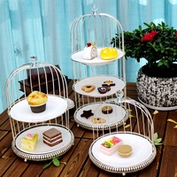Nordic dessert tray, multi layer fruit basket, fruit tray ceramics tray, birthday cake dessert rack for wedding decoration