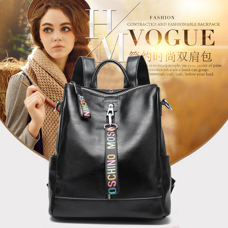 Women 100% Genuine Leather Backpack High Quality Youth Backpacks for Teenage Girls Female School Shoulder Bag Bagpack