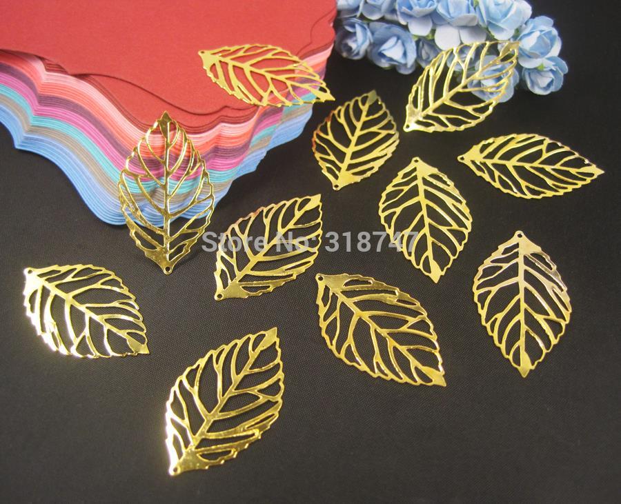 Металл золото маленькие листья материалы для самостоятельного изготовления украшений D03501438