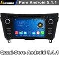 Quad Core 2 Din Android 5.1 Carro DVD Automotivo Para Nissan X-Trail 2014 2015 Nissan Qashqai 2014 Com Rádio 2G ROM GPS navegação