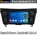 Quad Core 2 Din Android 5.1 Del Coche DVD Automotivo Para Nissan X-trail 2014 2015 Nissan Qashqai 2014 Con Radio 2G ROM GPS navegación