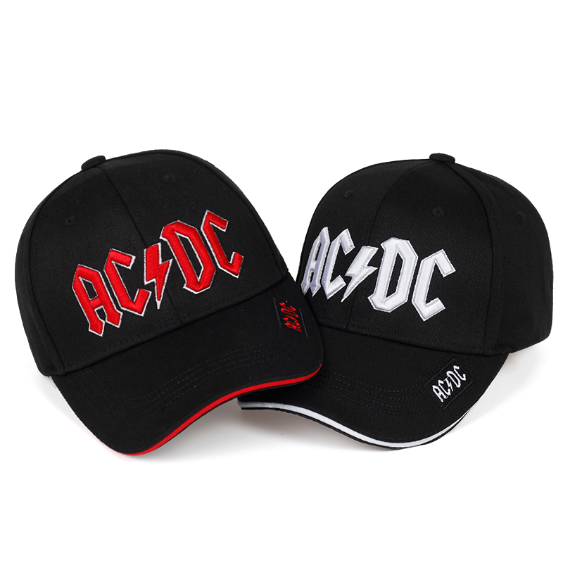 2019 High Quality ACDC Embroidery Baseball Cap Fashion New Hat Eaves Embroidery Caps Casual Hats Outdoor Hip Hop Sun Hat