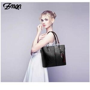 Image 5 - Zmqn bolsa feminina de luxo, bolsa feminina grande de mão modelo carteiro feita em couro, estilo 2020
