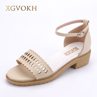 XGVOKH Brand New National Style Women Sandals Bohemia Flats Shoes Summer Shoes Women Shoes