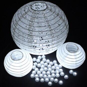 100Pcs/lot White Led Ball Lamps Mini Balloon Light For Paper Lantern Christmas Halloween Wedding Party Decoration Floral Decor