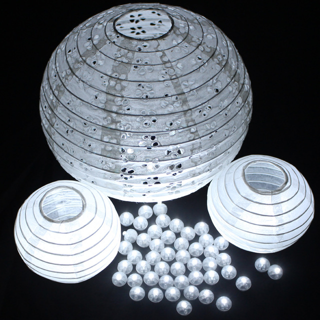 100Pcs/lot White Led Ball Light for Halloween Decoration