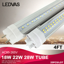 Super Bright G13 T8 Led tubes18W 22W 28W 1200mm 1.2m 110v 220v 85-265v Clear cover milky cover 4ft white/warmwhite Cree SMD2835