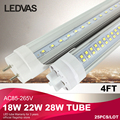 LEDVAS 18W 22W 28W T8 led tube light 1200mm Cree SMD2835 PF>0.9 4Ft 110V 220V White Warm White Factory outlets 2 Year Warranty