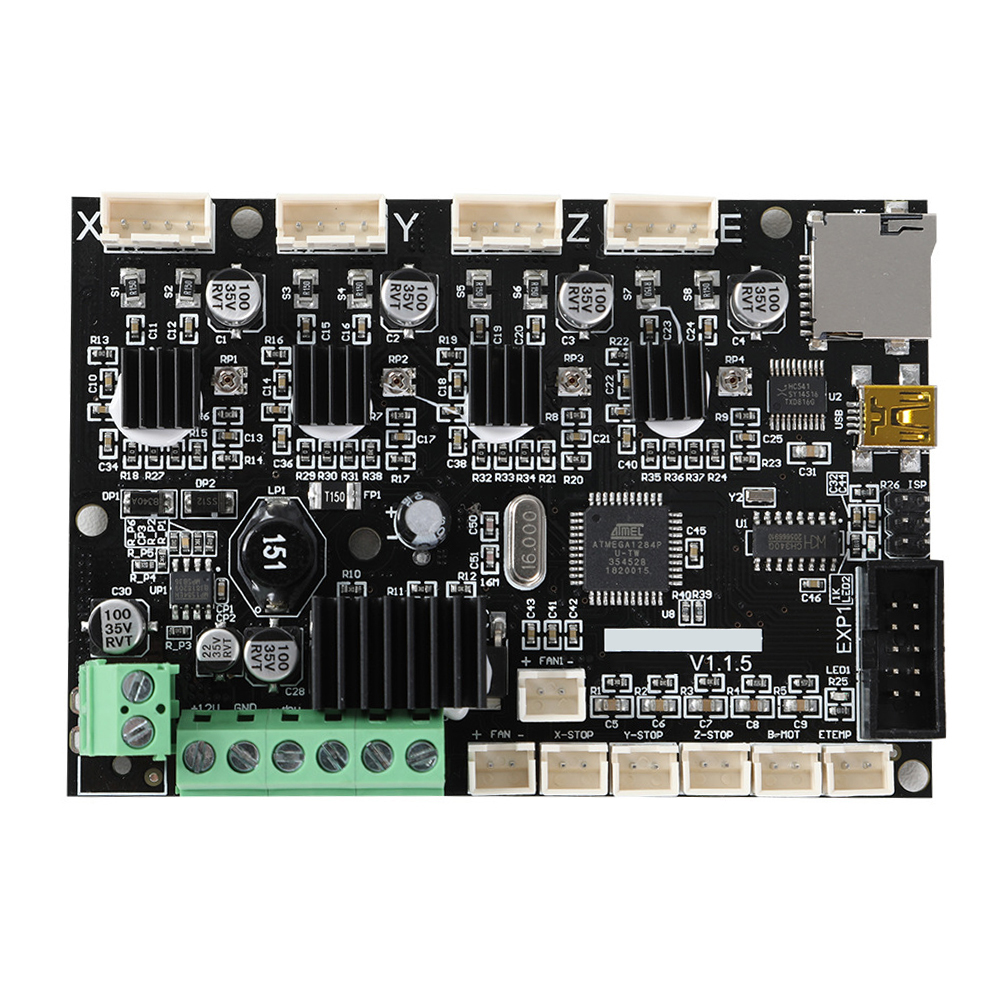Mini V1 1 5 Integrated Motherboard 3D Printer With TMC2208 Driver Copper Super Silent Mainboard Replacement