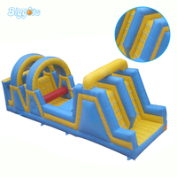 Sport Game Wipeout Inflatable Obstacle Course With Giant Slide Inflatable Obstacle Course Races For Rental
