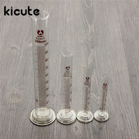 Kicute New 5ml 10ml 25ml 50ml 100ml Graduated Cylinder Measuring Tool Lab Glass Measuring Container Chemistry