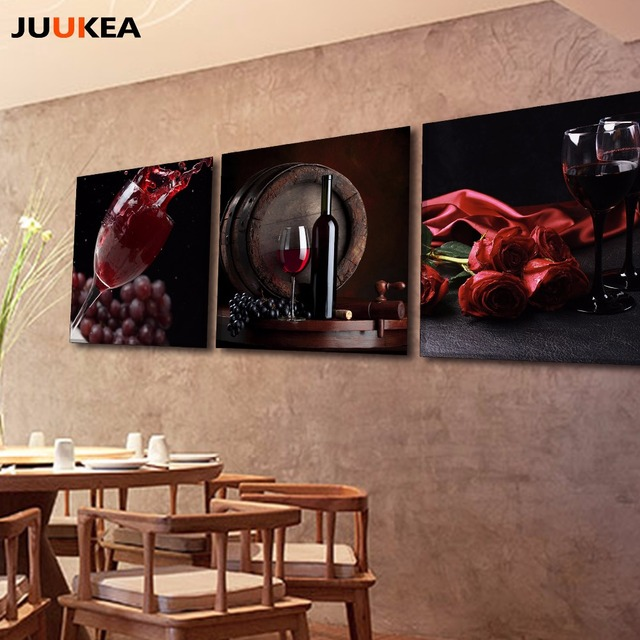 3 Panel HD Fotografie Roten Trauben Wein Leinwand Kunstdruck Malerei ...
