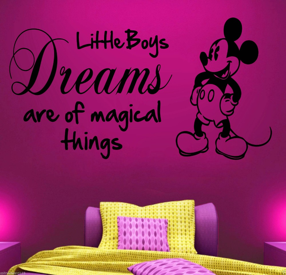 Mickey Mouse Vinyl Wall Art Quote Sticker Boys Childrens Bedroom