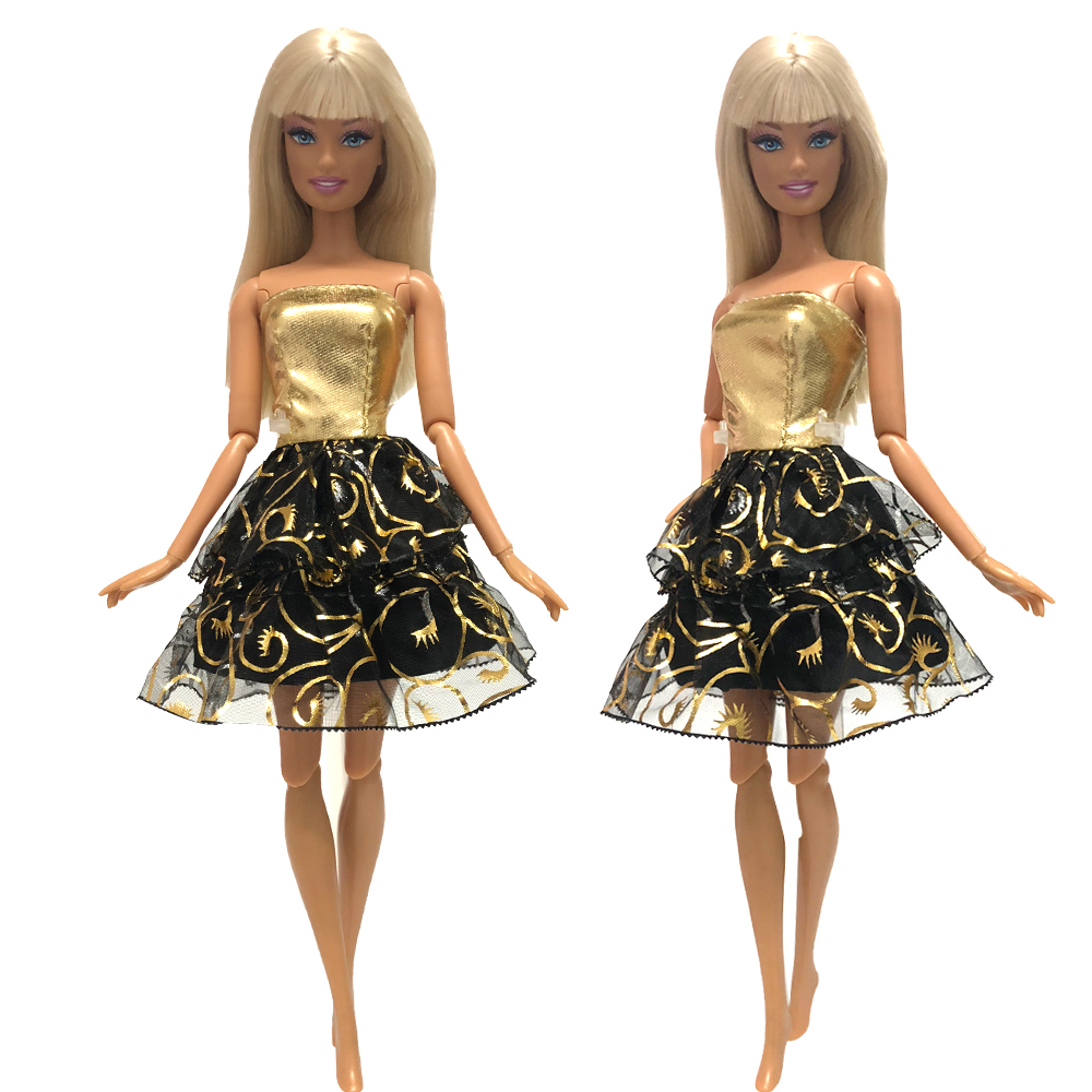 NK 2019 Newest Doll Dress Beautiful Handmade Party ClothesTop Fashion Dress For Barbie Noble Doll Best Child Girls'Gift 005F DZ