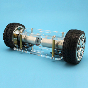 Image 5 - 2WD DIY Robot Kit Acrylic Plate Car Chassis Frame Self balancing Mini Two drive 2 Wheels 176*65mm Technology Invention Toys