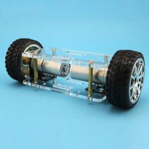 Image 5 - 2WD DIY Набор роботов, акриловая пластина, рама шасси автомобиля, самобалансировка, мини два привода, 2 колеса, 176*65 мм технология, игрушки для изобретения