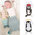 Baby Shark Sleeping Footmuff Bag Mermaid Slaapzak Infant Anti - Kick Quilt Envelope for Newborns ROM019
