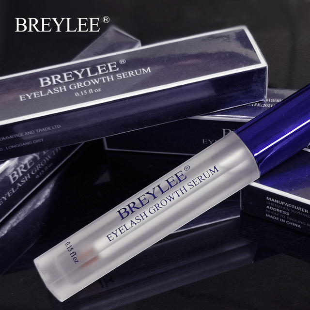 BREYLEE Eyelash Growth Serum Eyelash Enhancer Eye Lash Treatment Liquid Longer Fuller Thicker Eyelash Extension Makeup