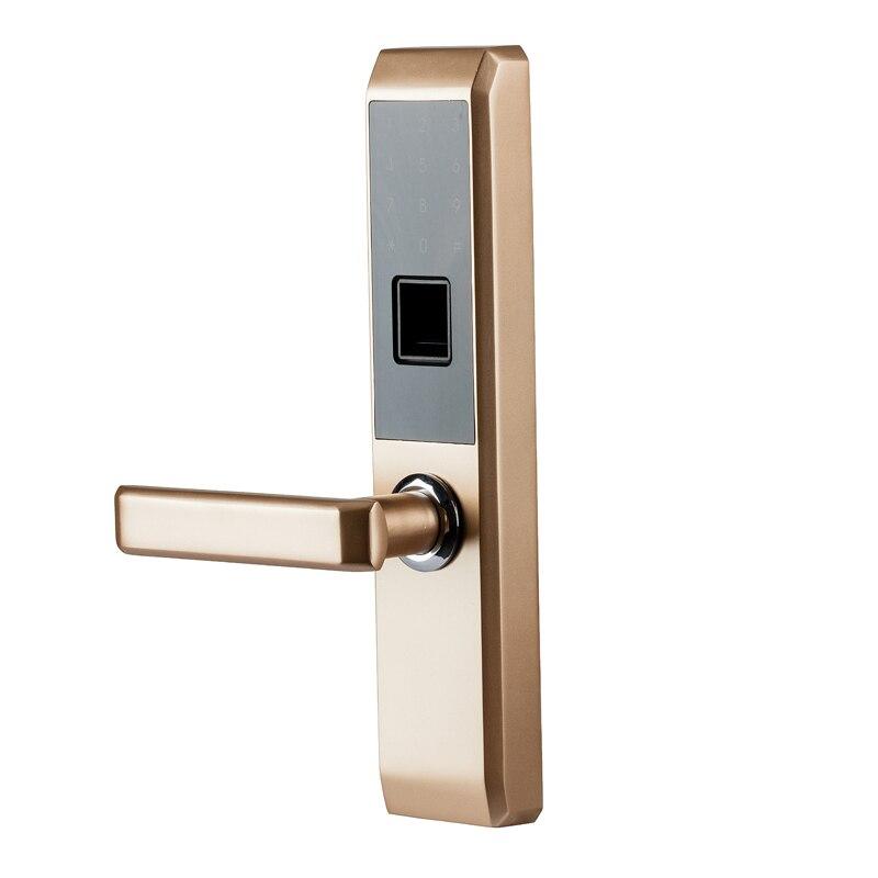 LACHCO 2019 biométrique d'empreintes digitales électronique serrure de porte intelligente, Code, carte, écran tactile numérique mot de passe serrure clé pour la maison lk18A3F - 3