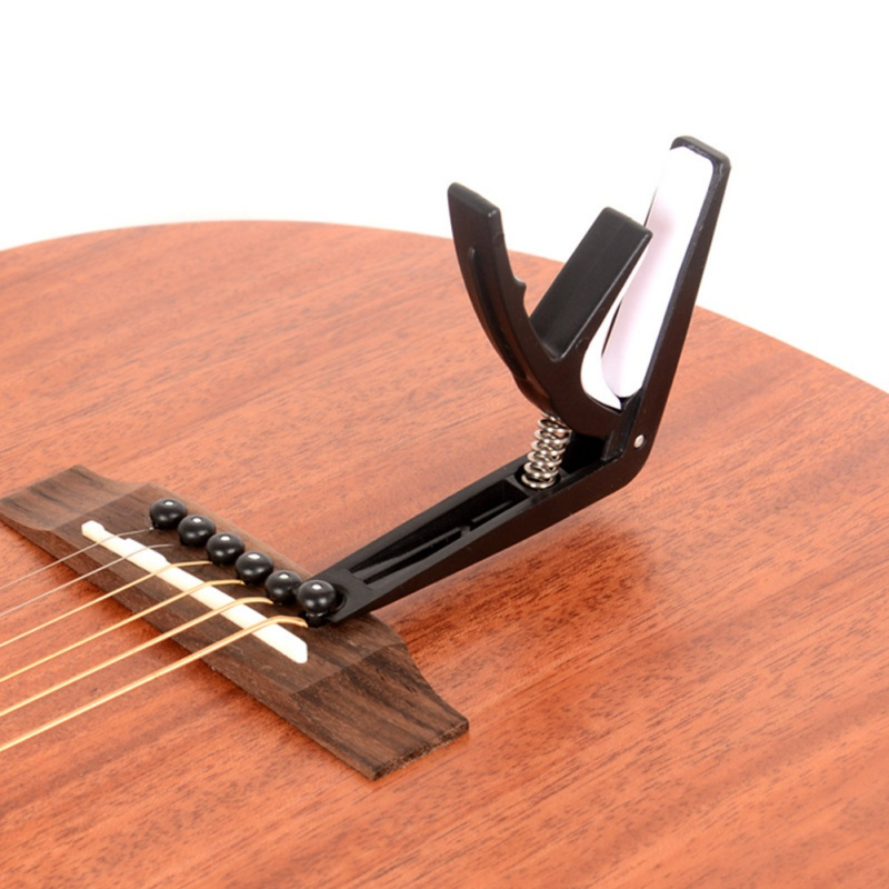 professional aluminum alloy tune guitar tuner clamp key trigger capo for acoustic electric. Black Bedroom Furniture Sets. Home Design Ideas