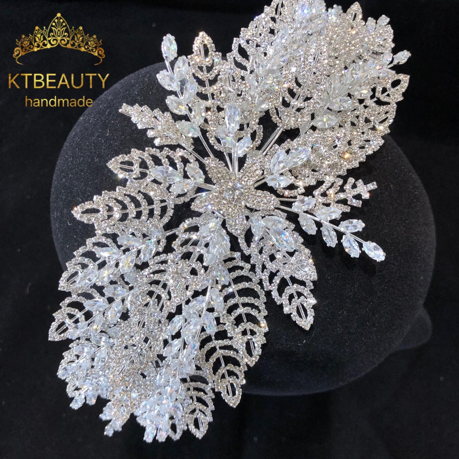New High Quality Rhinestone Zirconia Tiara Silver Fashion Headband Royal Bridal Wedding Dressing Crown Accessory Women