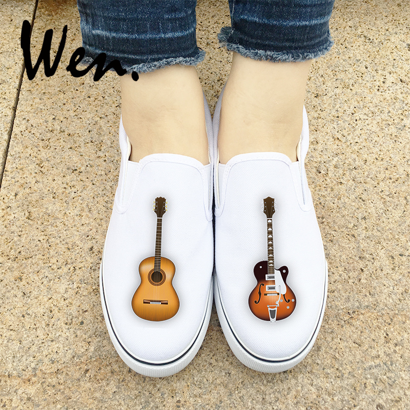 Shoes Preguiçosos On Instrumento Lona white Tênis Projeto Original Musical Plimsolls Pedal Slip Plataforma Men Mulheres Guitarra Top Wen Black De Das Do Low wtBxn4YqyC