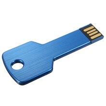 10 pcs USB 2.0 16GB Metal Memoire Flash Drive Stick WIN 7/10 PC Deep blue