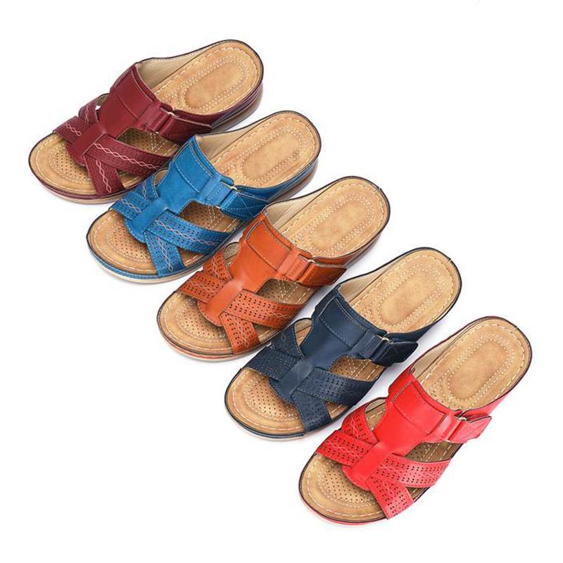 HTB10ToWahz1gK0jSZSgq6yvwpXaR Women's Summer Open Toe Comfy Sandals Super Soft Premium Orthopedic Low Heels Walking Sandals Drop Shipping Toe Corrector Cusion