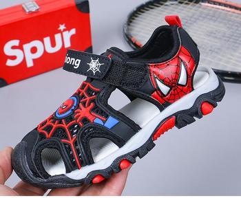 2019 החדש Cartoon בני סנדלי ספיידרמן רך מקרית נעלי קיץ ילדי Pu ספורט חוף נעלי האיחוד האירופי גודל 26-36