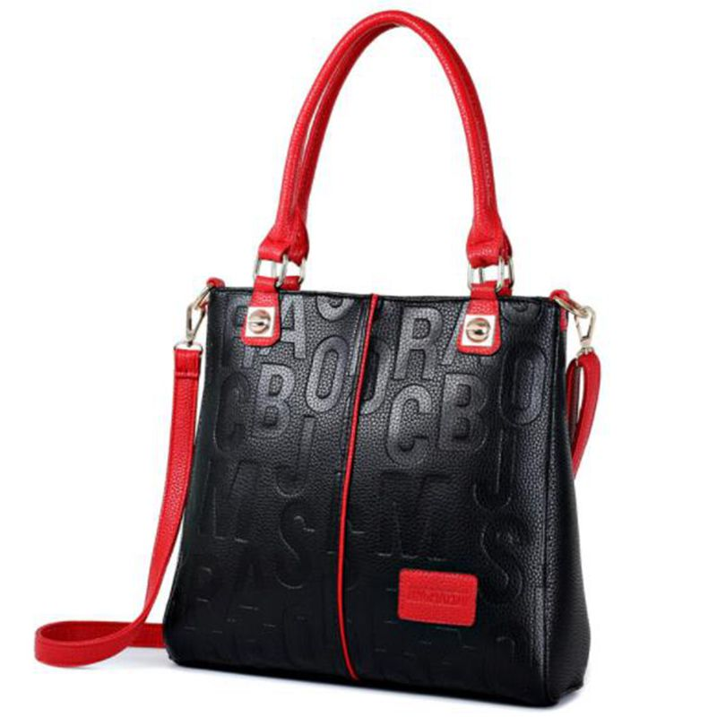 Luxury brand bag 2019 Fashion Women Handbag Vintage Embossed Flower Bag Shoulder Bag Women Leather Large Tote Purse  X398
