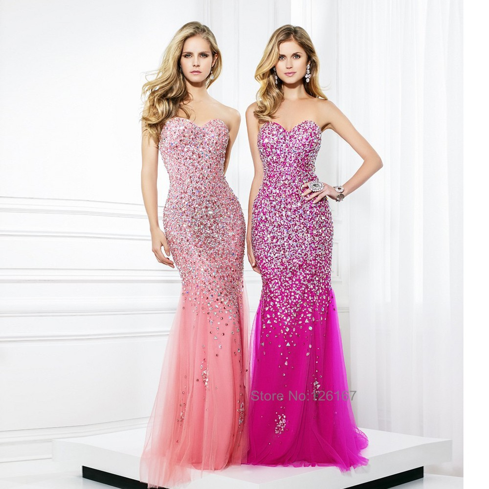 Pink Sequin Gown