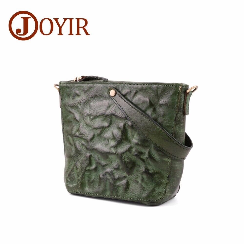 JOYIR Messenger sacs Vintage pour dames sac à main en cuir véritable petit sac à bandoulière sacs pour femmes 2018 fourre-tout Bolsa Feminina