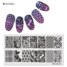 Прямоугольная пластина для штамповки шаблон дизайна ногтей дизайн