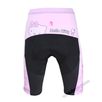High Quality Hello Kitty Cycling Shorts Polyester MTB Road Bike Short Sleeve Large Size Sports Shorts For Girls