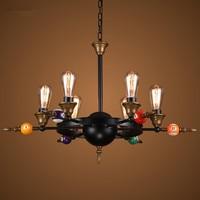 Loft stylu przemysłowych rocznika wisiorek światła żelaza sztuki retro wisiorek światła led edison lampora dekoracji kryty oświetlenie e27