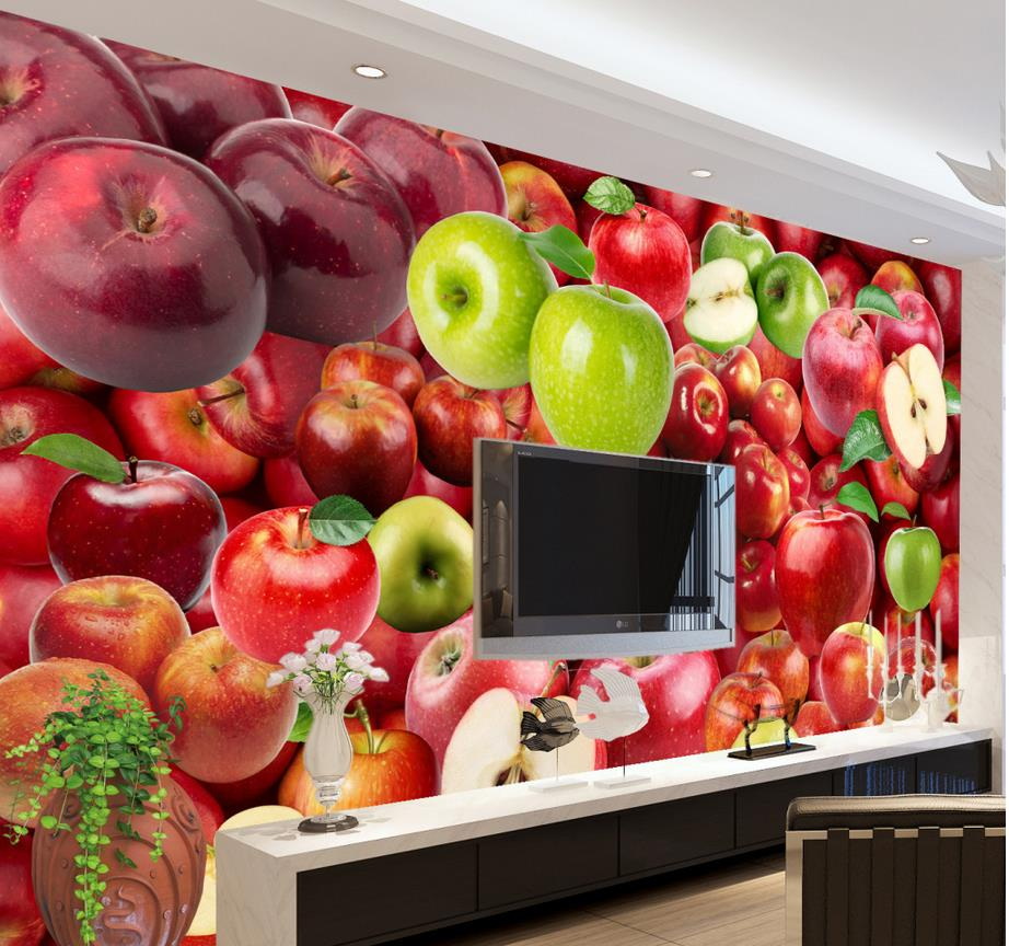 Home decoration classic painting wallpaper fruit 3d nature for Kitchen wallpaper 3d