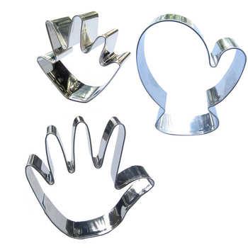 Małe ręce, rękawiczki, duże ręce kształt 3 części biszkoptowe formy do pieczenia, narzędzia do pieczenia, ciasto dekorowanie miękkich cukierków.