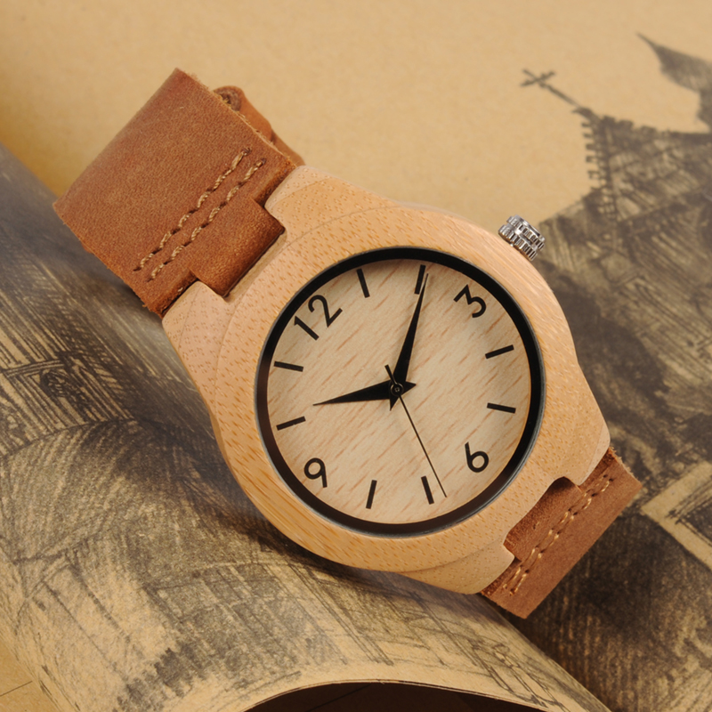 Image 2 - TOP Luxury Brand Watch BOBO BIRD Women Wristwatches Handmade Ladies Wood Watches With Genuine Leather relogio feminino C A32-in Women's Watches from Watches