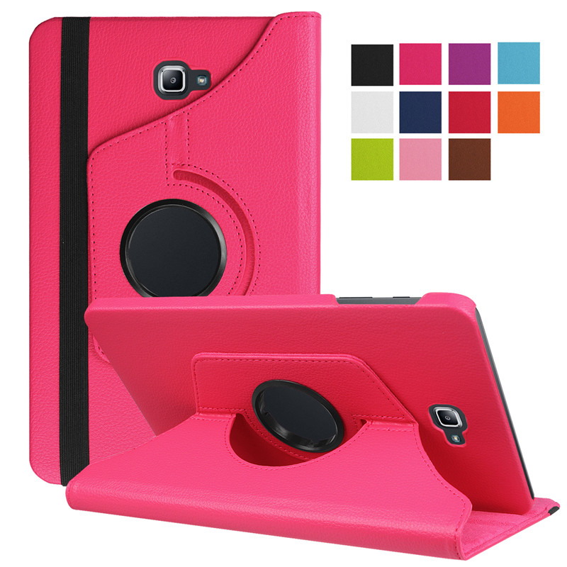 Cqhseedlings Rotating case For Samsung TAB A T580 10.1'' PU Leather Stand Case Cover for Samsung Galaxy Tab A T580 without S pen original 1 1 case for samsung galaxy tab s 8 4 t700 t705 business stand pu leather case cover for samsung galaxy tab s 8 4 t700