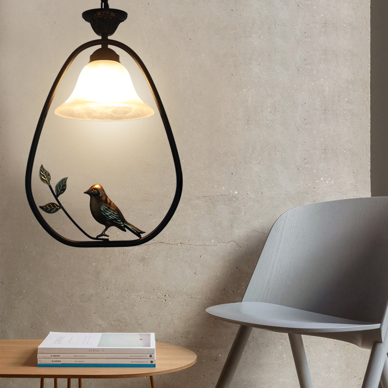 Chess Room Industrial lighting Pendant Light glass shade Bar Led Lamp Dining Hall Entrance American pendant lamps Bird cage lampChess Room Industrial lighting Pendant Light glass shade Bar Led Lamp Dining Hall Entrance American pendant lamps Bird cage lamp