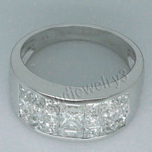 Vintage Solid 18Kt White Gold  Engagement Wedding Ring Jewelry Gift WB001
