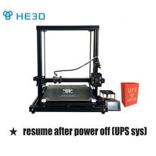 HE3D H500 große größe 400mm * 400mm * 500mm hohe präzision DIY 3d-drucker kit mit heatbed