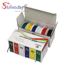 UL 1007 18AWG 30m/box Electrical Wire Cable Line 6 colors Mix Kit Airline Copper PCB DIY
