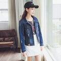 2016 Women's coats short denim Jacket clothes Autumn winter Slim cotton Jackets denim jeans Outerwear Coat for women