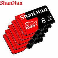 Cartão de alta velocidade de 64 gb da classe 10 micro sd do cartão tf para o telefone/tabuleta pc cartões de memória reais 8 gb 16 gb 32 gb de shandian da capacidade micro sd