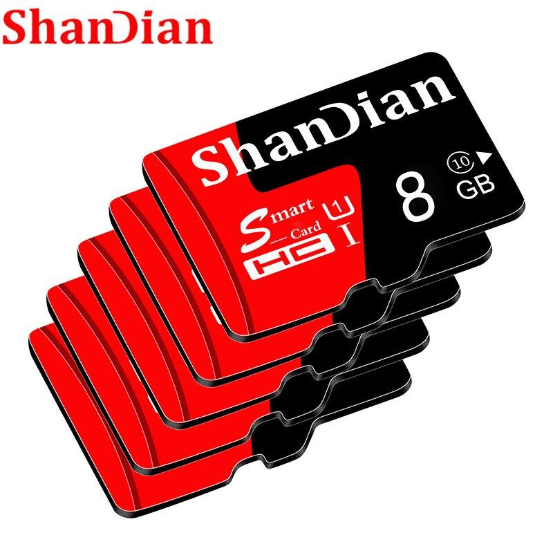Cartes mémoire micro sd de capacité réelle SHANDIAN 8 GB 16 GB 32 GB haute vitesse 64 GB classe 10 carte micro sd carte TF pour téléphone/tablette pc