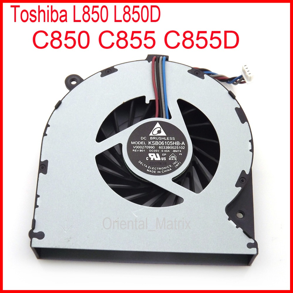 Darmowa wysyłka nowy KSB06105HB A 8M74 DC5V 0.4A dla Toshiba C850 C855 C855D L850 L850D CPU chłodnica wentylator Wentylatory i chłodzenie Komputer i biuro - title=